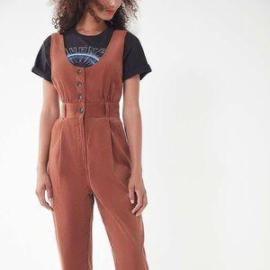 Urban Gretel Button-down Corduroy Jumpsuit
